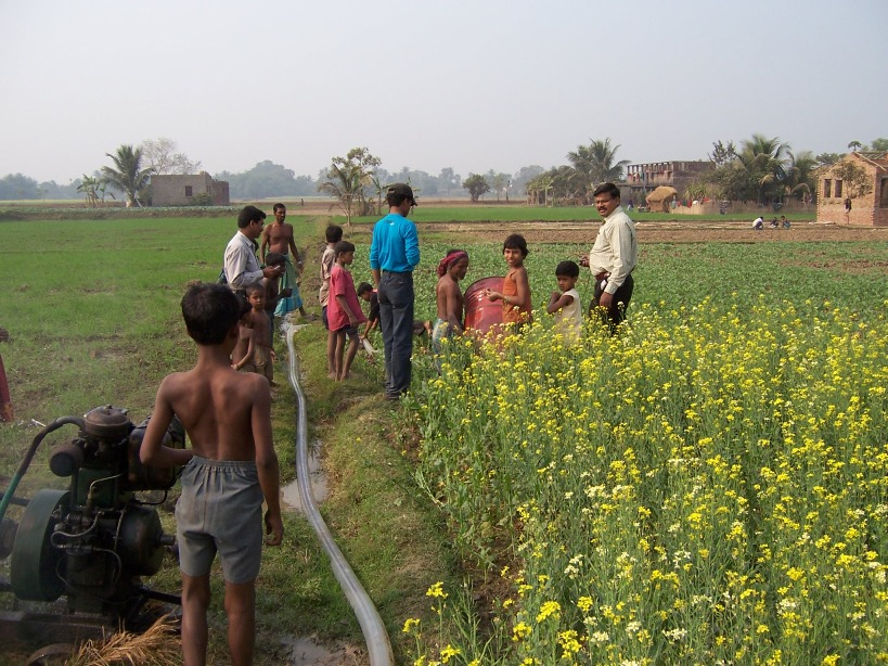 Groundwater irrigation in West Bengal